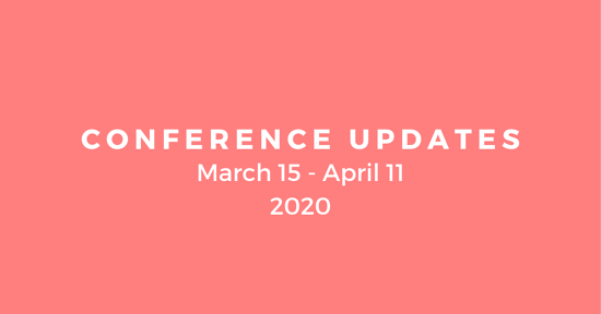 Racolta: Cancelled and Postponed Conferences between March 15 - April 11 2020